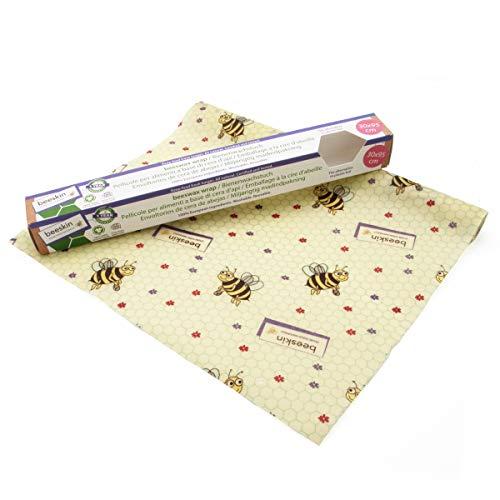 beeskin Bienenwachstuch Rolle zum Frischhalten & Aufbewahren von Lebensmitteln – Flexibel zuschneidbares Wachspapier – 30x95 cm - Kids
