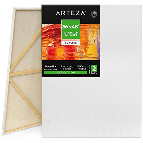 Great for Canvas Party Pack of 12 100/% Cotton Art Projects and Suitable for Professional Artists /& Hobby Painters Canvas Panels 8x10