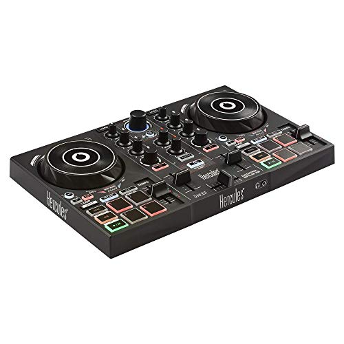 Hercules DJ, 200 Portable USB Controller, Academy and Full DJ Software DJUCED Included (AMS-DJC-INPULSE-200)