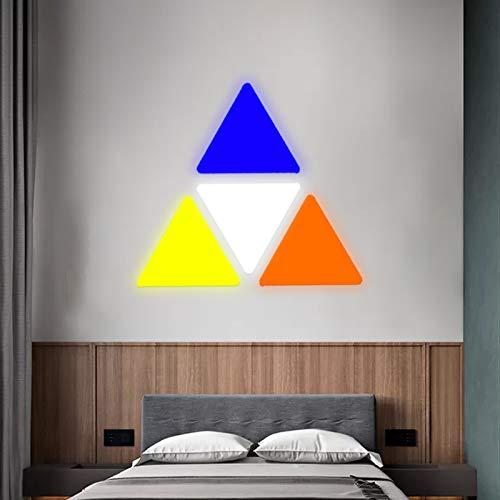 JAKROO Folgen Sie der Musik Melodie RGB Farbe Wandleuchte Geometrie LED Licht Wandpanel, für Zuhause Flur Büro Hotel Bar Festliches Geschenk