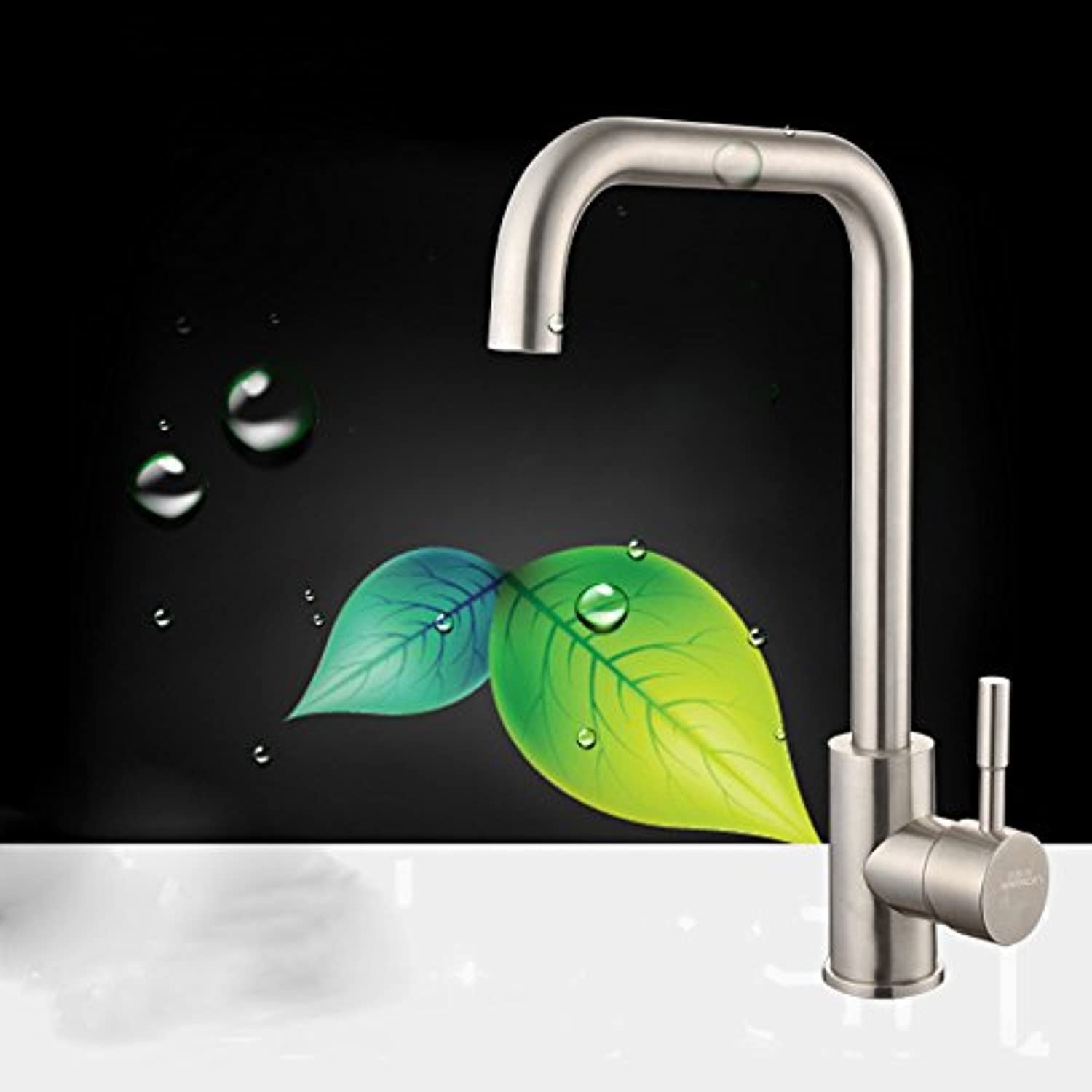 Commercial Single Lever Pull Down Kitchen Sink Faucet Brass Constructed Polished 0Rr Kitchen Faucet_Hot and Cold Kitchen Faucet Hot and Cold Sink Faucet Sink Faucet
