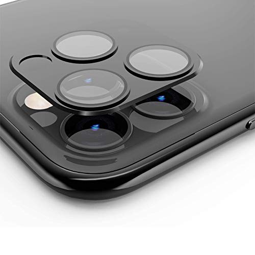 Camera Lens Protector for iPhone 11 Pro/Pro Max,Tempered Glass HD Camera Lens Screen Cover Case for iPhone 11 Pro/Pro Max,9H Hardness Anti-Scratch Camera Screen Protective Lens Film (Black)