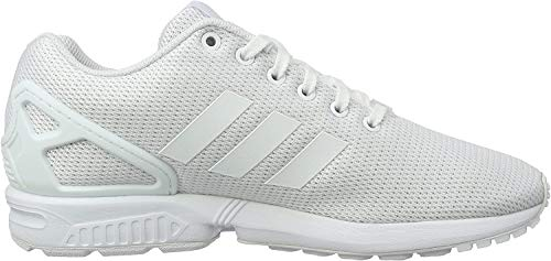 adidas Unisex-Erwachsene ZX Flux Low-Top Sneakers,Weiß (Footwear White/Clear Grey),44 2/3 EU