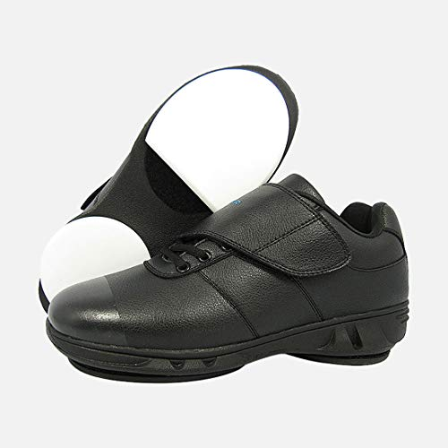 """ICECUR Men's Curling Shoes 1/5"""" PTFE+Gripper ice Games Suitable for Best curlers MS550 (Black, US11)"""