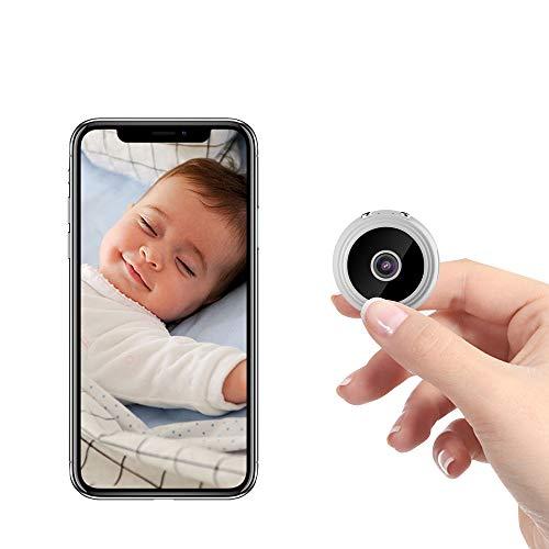 Mini cámara espía A9 Cámara oculta HD 1080P inalámbrica, cámaras WiFi de seguridad doméstica, cámaras de vigilancia Nanny Cam con detección de movimiento y visión nocturna