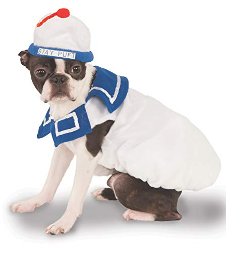 Ghostbusters Stay Puft Cute Pet Costume with inflatable backpack