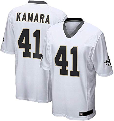 Alvin Kamara New Orleans Saints NFL Youth 8-20 White Road Mid-Tier Jersey (Youth X-Large 18-20)