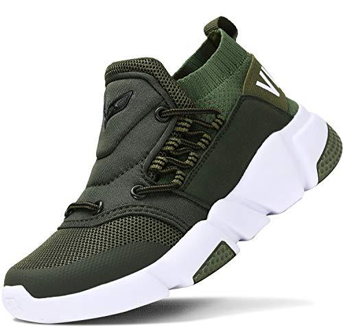 ASHION Kinder Turnschuhe Jungen Sport Schuhe Mädchen Kinderschuhe Sneaker Outdoor Laufschuhe für Unisex-Kinder(E-Grün,37 EU)