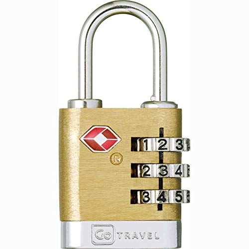 Anti-diefstal hangslot TSA met 3-cijferige code Brass Travel Sentry (340)
