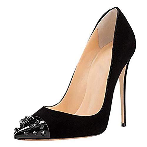 Frauen Wildleder High Heels Einfache und stilvolle Damen Spitzniet Pfennigabsatz Pumps Atmungsaktive Damen Hochzeit Party Schuhe