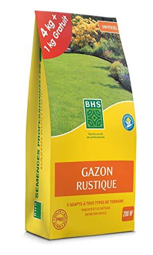 BHS GRUP4 Gazon Rustique Et Engrais | 5 kg | Soit 200 m² | Semences Enrichies en Engrais Organique pour Une Implantation Rapide Et Homogène Multicolore Taille Unique