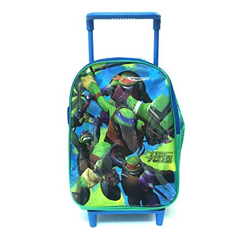 Partycolare - Trolley Zaino Asilo con manico orientabile Tartarughe Ninja Deluxe