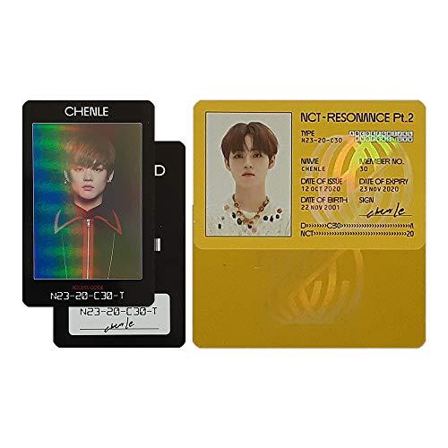 AmazingK NCT 2020 2nd Album Resonance Pt.2 Official ID Card & Access Card Photocard Kpop (Chenle Set_2pcs)