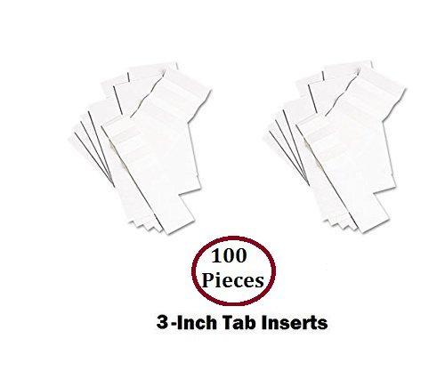 1InTheOffice Hanging Folder Tab Inserts, 3-1/2