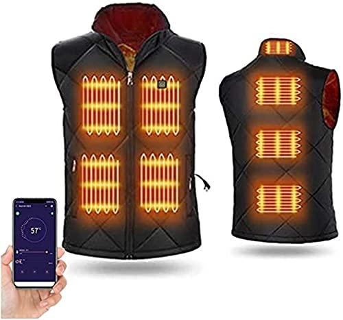 LIUPING Chaleco Térmico para Hombres Y Mujeres, Chaqueta Eléctrica con Calefacción Chaleco Térmico con Carga USB con 3 Chaquetas Térmicas Opcionales para Actividades Al Aire Libre
