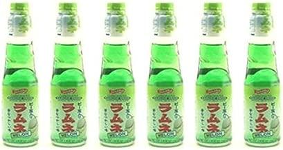 Shirakiku Ramune Drink, Melon, Carbonated Marble Soft Drink of Japan 6.76 oz (Pack of 6)