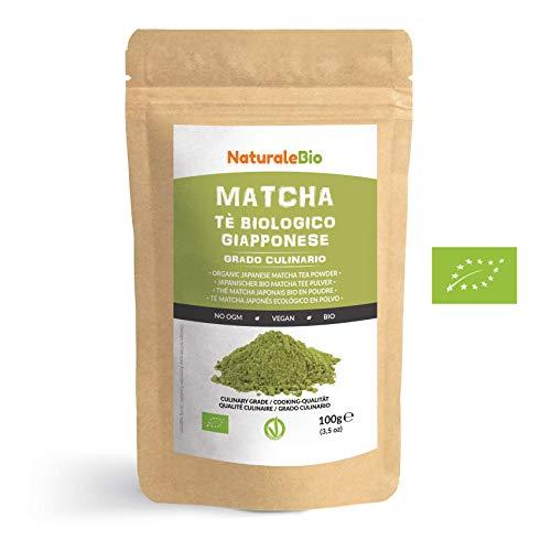 Té Verde Matcha Orgánico Japonés En Polvo [ Grado Culinario ] 100 gr....