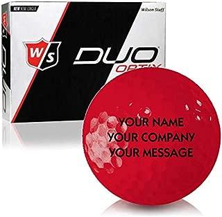 Wilson Staff Duo Soft Optix Matte Red Personalized Golf Balls