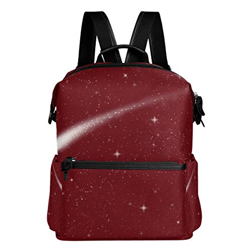 TIZORAX Night Sky avec Comet Sac à Dos d'école College Sacs Sac à Dos Bookbags pour Teen garçons Filles