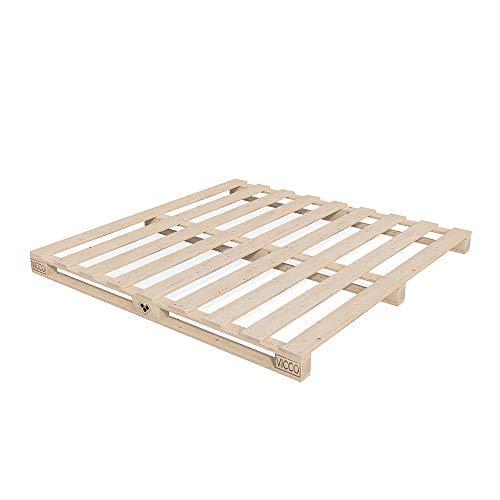 Vicco Palettenbett Bett Holz Massivholzbett 90 100 120 140 160 180 200 x 200cm, Palettenmöbel Made...