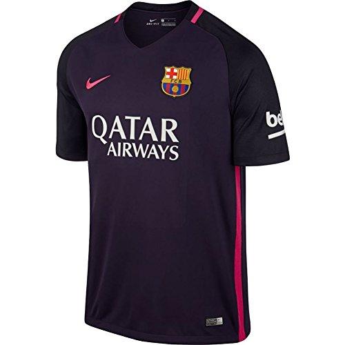 NIKE FCB M SS AW Stadium JSY Camiseta, Hombre, Negro