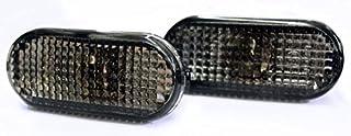 Seitenblinker Schwarz Oval Links+Rechts Set E Prüfzeichen Eintragungsfrei mit Adaptern