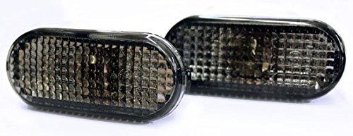 Seitenblinker Schwarz Oval Links+Rechts Set E-Prüfzeichen Eintragungsfrei mit Adaptern