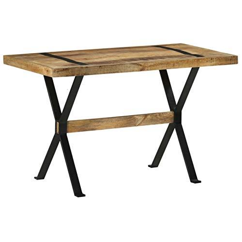 Tidyard Esstisch Esszimmertisch Küchentisch Holztisch Speisentisch Esszimmermöbel 120x60x76 cm Raues Mangoholz