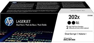 HP 202X | CF500XD | 2 Toner Cartridges | Works with HP LaserJet Pro M254, M281cdw, M281dw | Black | High Yield