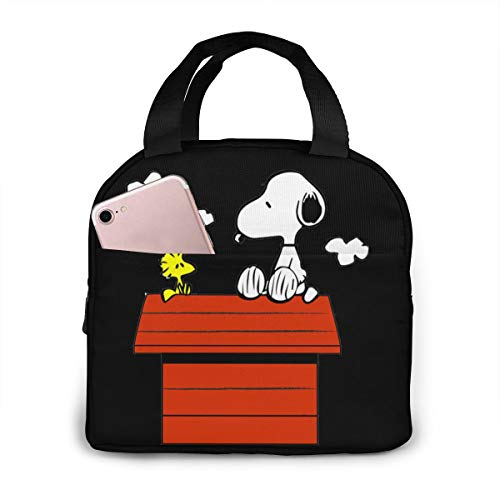 Lunch Bags For Men Women, Snoopy Insulated Durable Lunch Box Tote Bag Cooler Bag For Work School Picnic Travel Beach
