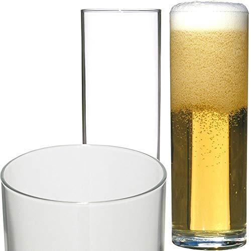 Glasveredlung Schmitz Kölner Stange 0,2 l 151 mm Kölschglas, kein Füllstrich, 4 Stück