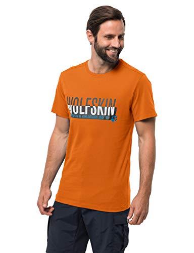 Jack Wolfskin Herren Slogan T-Shirt, Desert orange, L