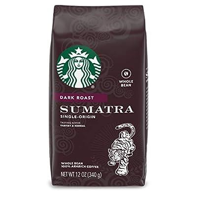 Starbucks Dark Roast Whole Bean Coffee — Sumatra — 100% Arabica — 1 bag (12 oz.)