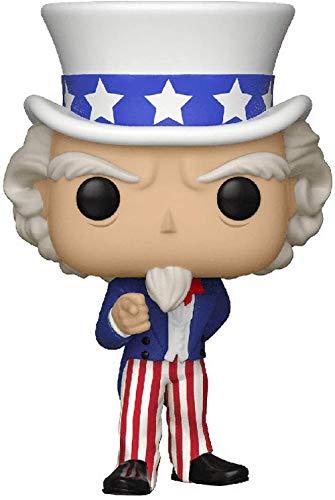 Pop Historia Americana Tío Sam Celebrity Serie clásica de acción de Vinilo Modelo Juguetes coleccionables para fanáticos Cumpleaños Halloween Navidad Regalos de tío-Tío
