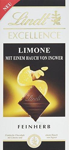 Lindt Excellence Limone-Ingwer, 10er Pack (10 x 100 g)