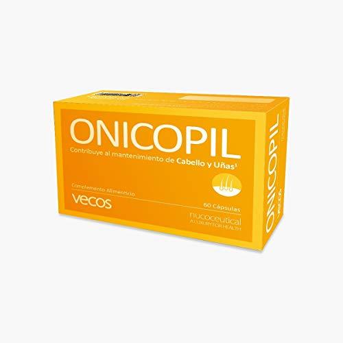 Onicopil Vecos para el fortalecimiento de cabello y uñas - Suplemento con aminoácidos, oligoelementos esenciales y vitaminas del grupo B y vitamina C para mejorar la salud capilar – 60 cápsulas