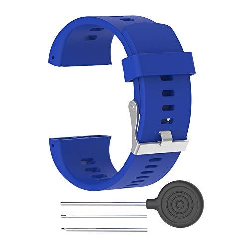 Correa de Reloj, Alfiler Abrochado Ajustable Accesorios de Repuesto para Bandas de Reloj de Silicona con Herramienta para Relojes Deportivos Polar V800 GPS