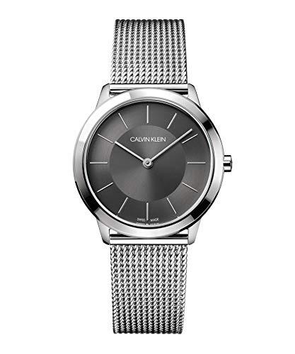 Calvin Klein Reloj Analógico de Cuarzo para Mujer con Correa de Acero Inoxidable – K3M22124