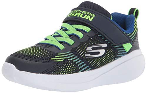 Skechers Go Run Fast-Sprint Jam, Zapatillas, Multicolor (NVLM Black Textile/Synthetic/Red Trim), 27.5 EU