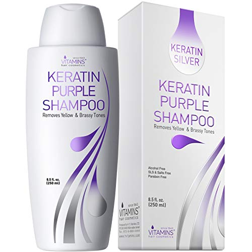 Vitamins Keratin Purple Toning Shampoo - Violet Blue...