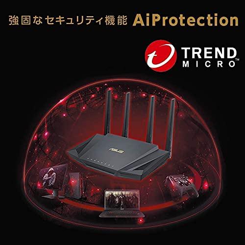 ASUSWiFi無線ルーターWiFi62402+574MbpsデュアルバンドRT-AX3000メッシュ機能付3階建/4LDKPS5/NintendoSwitch/iPhone/android対応