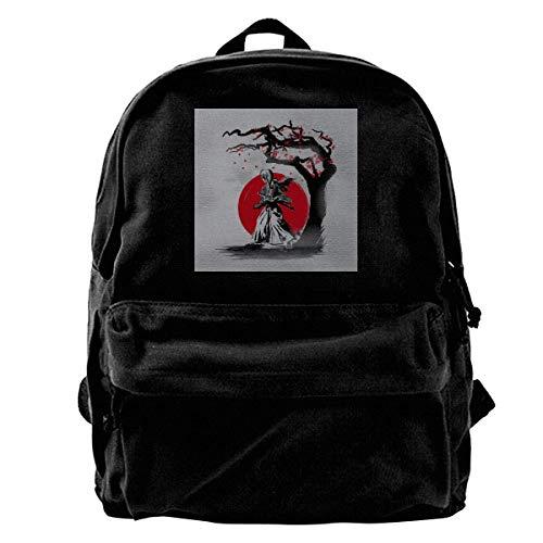 maichengxuan Canvas Backpack Rurouni Kenshin Wandering Samurai Rucksack Gym Hiking Laptop Shoulder Bag Daypack for Men Women