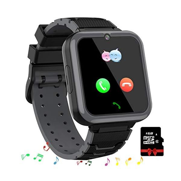 Smooce Smartwatch para Niños, Reloj Inteligente Niños Teléfono con 1.54 Pulgadas Pantalla Táctil, MP3 Música,Llamada SOS… 1