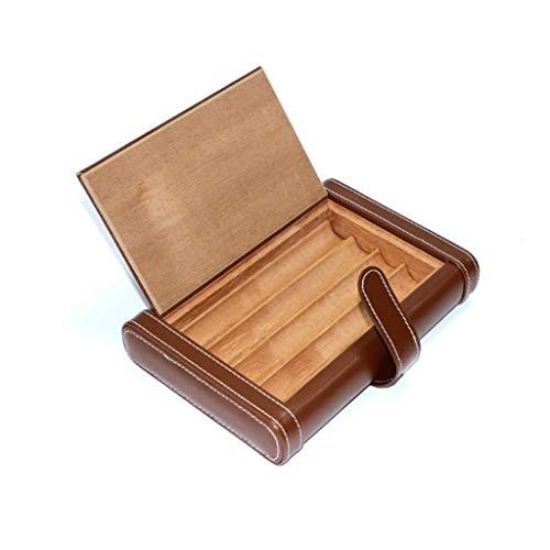 Humides de cigares Humidor Case Voyage portable en cuir étui à cigares, bois de cèdre Voyage avec cigare Humidificateur, boîte à cigares Cave à cigares for 4 Cigares (Couleur: B) ( Color : B )