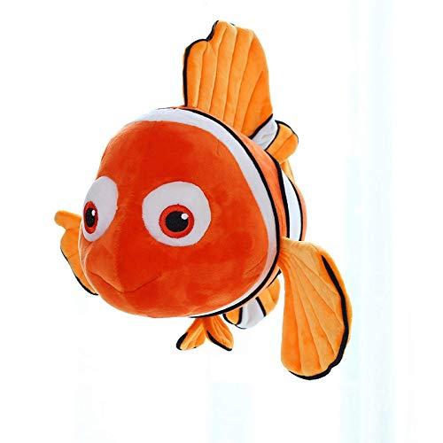 JKLI Plüsch 23 cm Simulation Plüsch Spielzeug Stoff süße Clown Fisch weiche Puppe Kinder süße Anime Stoff orange Wangwu (Color : Orange)