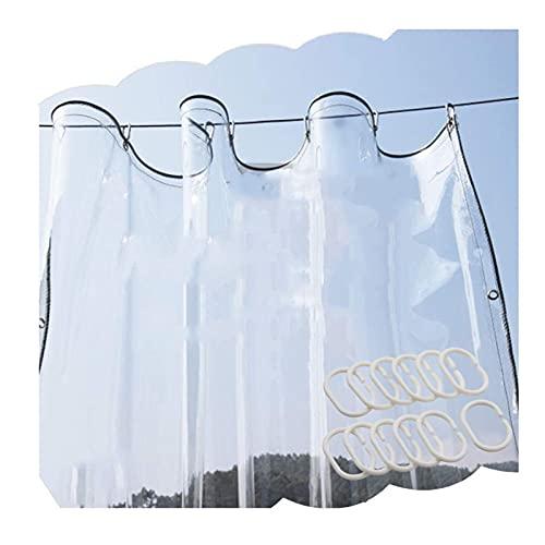 Transparant zeildoek, Heavy Duty waterdicht zeildoek, Beschermhoes voor bescherming tegen de zon met roestvrije doorvoertules voor tuinplantafdekking, 30 maten (kleur: helder, grootte: 2x4m)