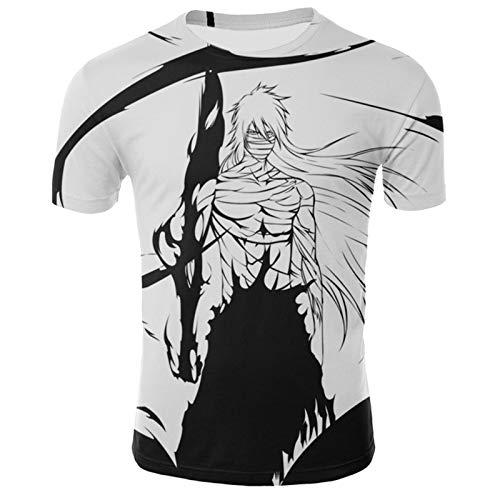 YOILYDI-Bleach-Unisex 3Dt Shirt, Interesting Pattern, Breathable Polyester Material,Slim Polo Shirt,Boy Street Clothes-XL