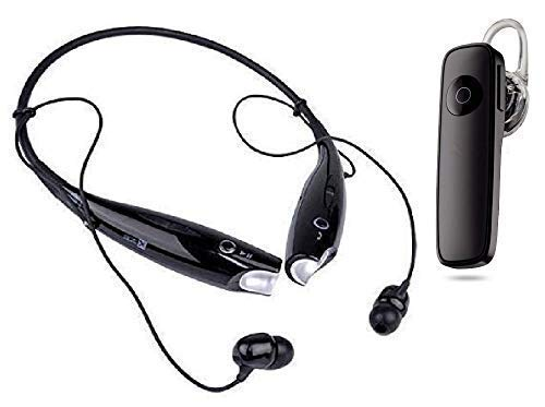 Haryani's Combo of Wireless Neckband Bluetooth Earphone with P20BT Earphone, Super Sound Deep Bass with Mic, Noise Cancellation Headset for All Smartphone