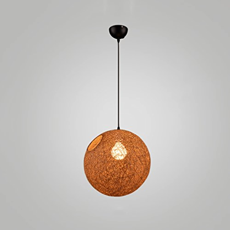 Schlankes minimalistisches Schlafzimmer-Treppen-hngendes Lampen-kreatives Rattan Hanf-Bekleidungsgeschft LED Restaurant-hngende Beleuchtung (Farbe   braun, gre   25cm)