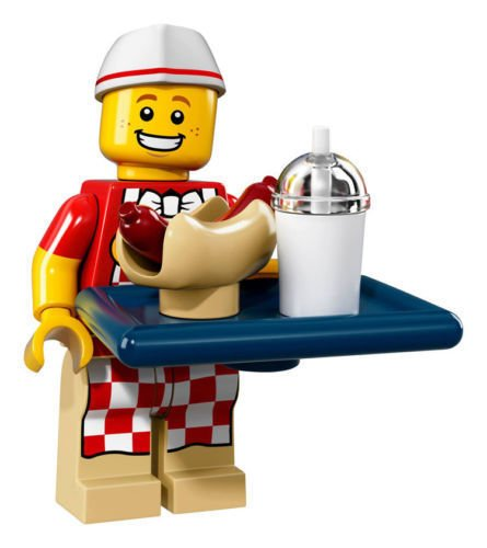 LEGO Collectible Minifigure Series 17 - Hot Dog Vendor (71018)